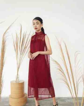 CHA HUA CHEONGSAM DRESS - RED image