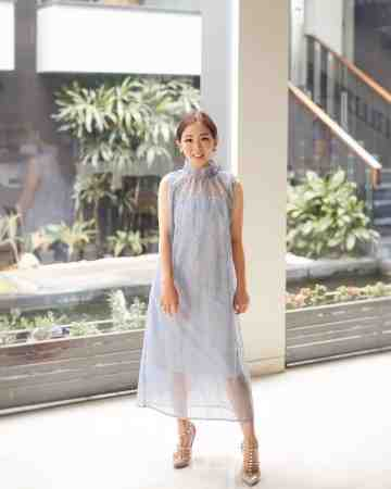CHA HUA CHEONGSAM DRESS - BABY BLUE image