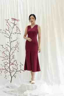 Byeol Dress - Redwine
