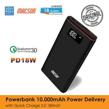 POWERBANK 198 10000mAh DIGITAL - BLACK image