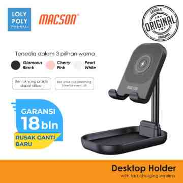 Desktop Holder With Fast Wireless Charging 173 Black image