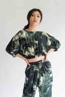 Castille TOP in FOREST GREEN l READY STOCK
