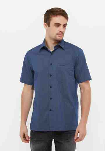 Pierre Cardin Mens Short Shirt 933 Navy image