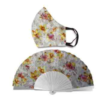New Normal HandFan Set Lavatera Flower No. 49 image