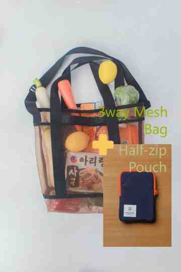(Bundling) 3Way Mesh Bag + Pouch image