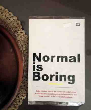 NORMAL IS BORING image