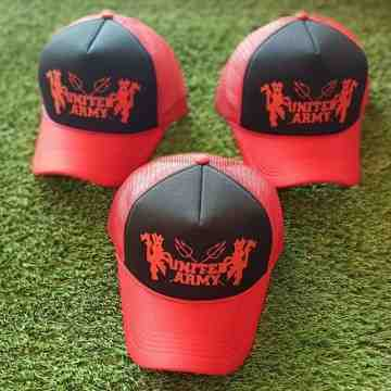 trucker Hat United Army Red/black