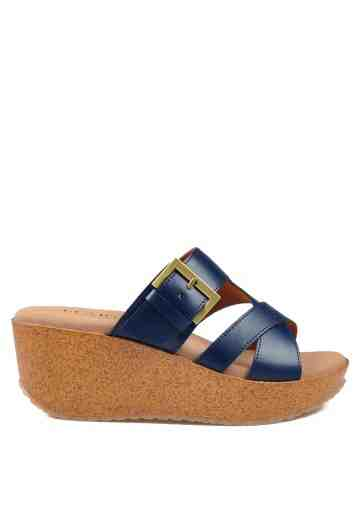 Cindy Wedges Sandals Navy