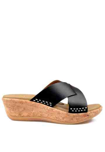 Monic Wedges Sandals Black