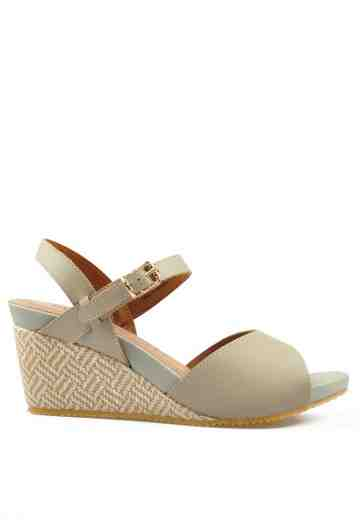 Irene Wedges Sandals Vellum