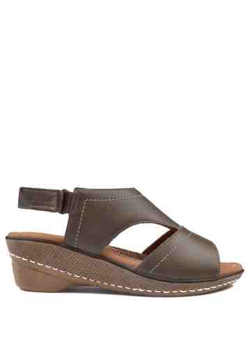 Iriana Wedges Sandals Taupe