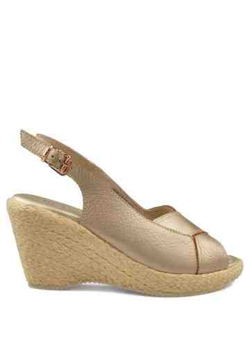 Sabrina Wedges Gold Champagne