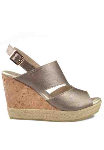 Monne Wedges Sandals Taupe Metallic