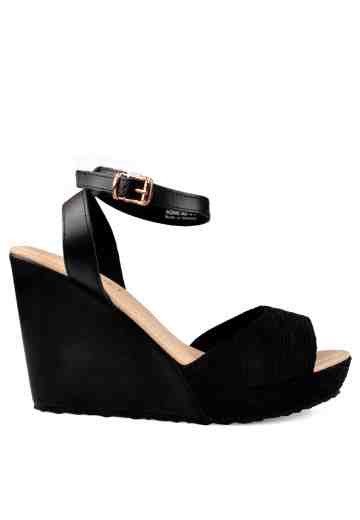 Ivonne Wedges Sandals Black