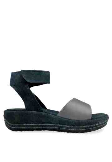 Sugar Denim Wedges Sandals Grey