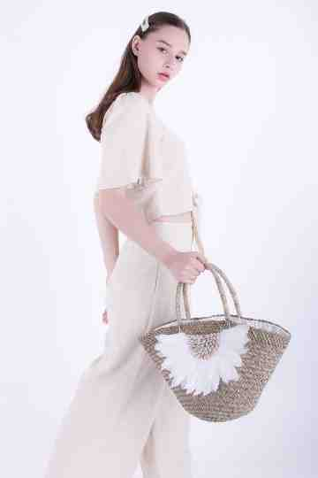 Mendong Shell Feather Bag