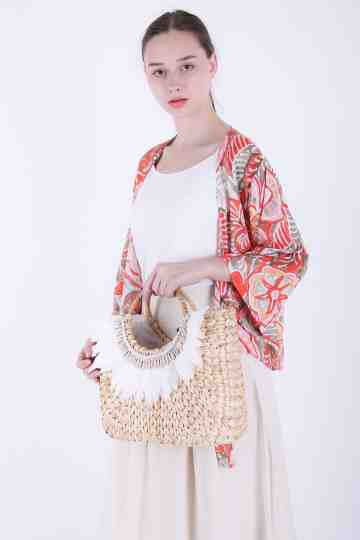 Eceng Maxi + Feather Shell Bag 02