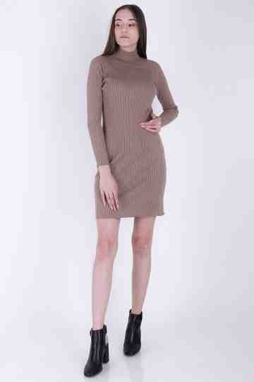Knit Bottleneck Dress 692