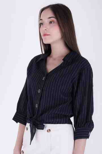 Carren Collar Linen Blouse