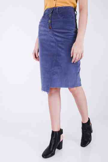 Verrie Corduroy Pencil Skirt