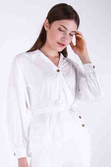 Cylia Oversize Collar Blouse
