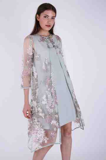Embroidery Blouse Dress + Inner