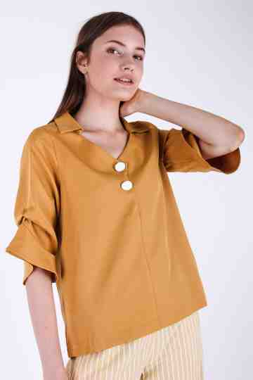Viscose Bell Sleeve Blouse