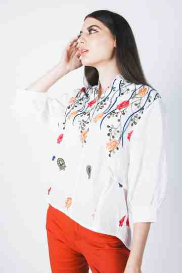 Cotton Embroidery Blouse 13291