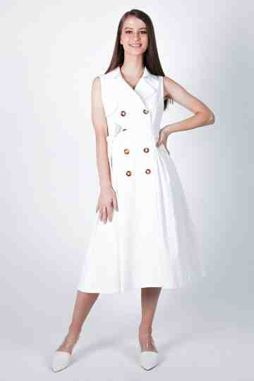 Trench Midi Dress With Belt