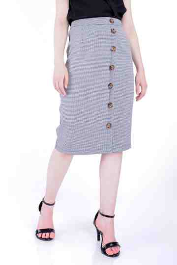 Check Pencil Skirt 19364