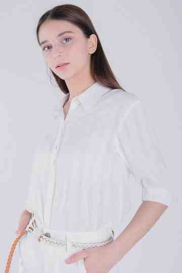 Texture Cotton Fit Blouse
