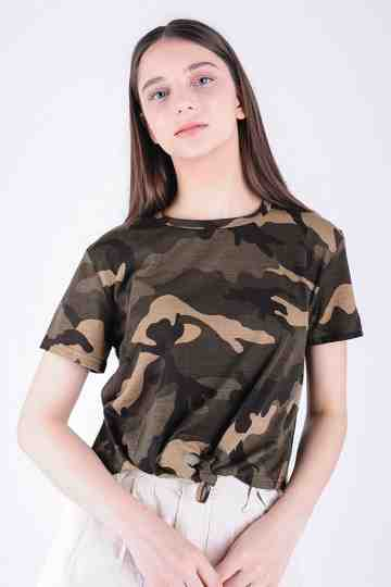 ARMY BLOUSE WITH KNOT