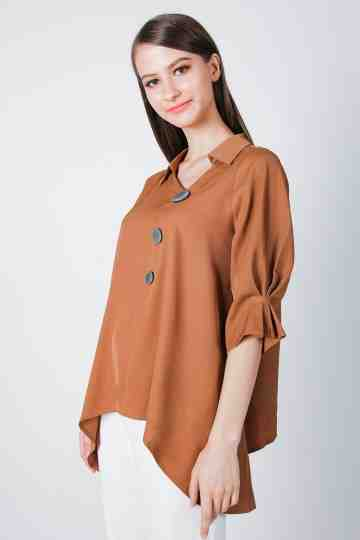 ASYMETRIC BUTTON BLOUSE 4522