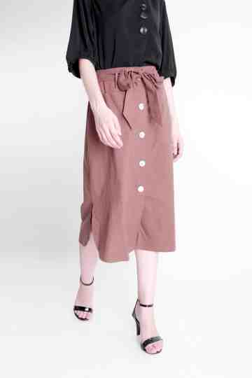 Rayon Polyester Skirt With Belt