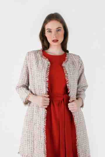 TWEED LONG JACKET
