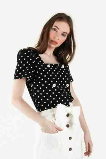 POLKADOT CROP BLOUSE
