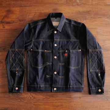 VICTORY 15 OZ DOUBLE ELBOW DENIM JACKET image
