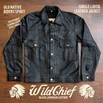 WILDCHIEF Black Lambskin Leather Jacket image