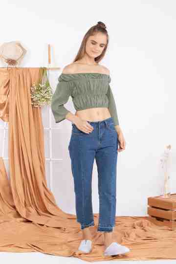 Bubble Sabrina Top