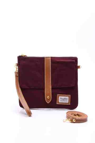 Maroon pouch series image