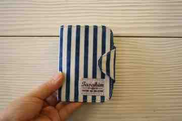 Navy stripped card holder series image