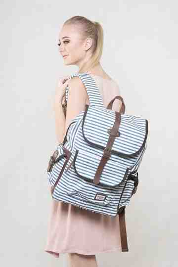 Navy stripped backpack series image