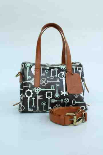 Cute satchel key printed leather series image