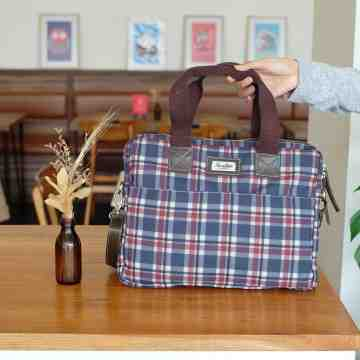 (PRE ORDER) Laptop Bag Tartan Canvas image