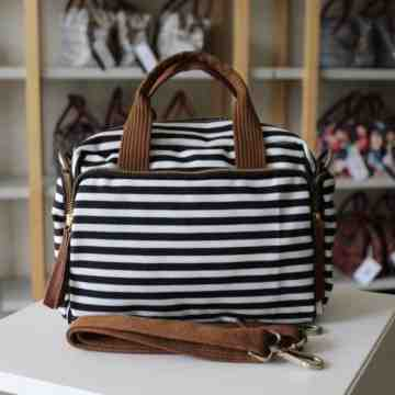 (PRE ORDER) Celine Black Stripped Canvas image