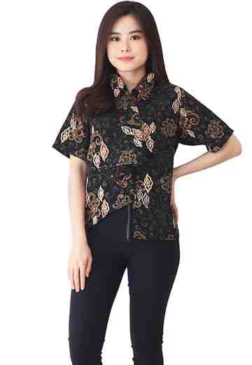 Ice Cream Tie Blouse Black Panther