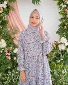 Jardin Dress Soft Blue