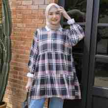 AUDRE TUNIC PLAID BLACKPINK