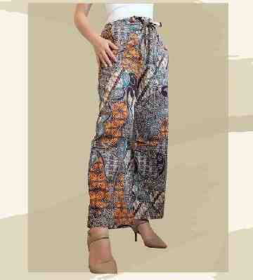 Milla Batik Culotte - Brown