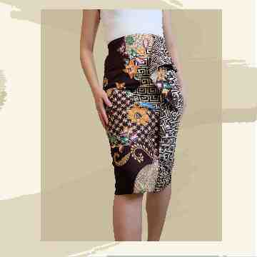 Melody Batik Skirt - Brown